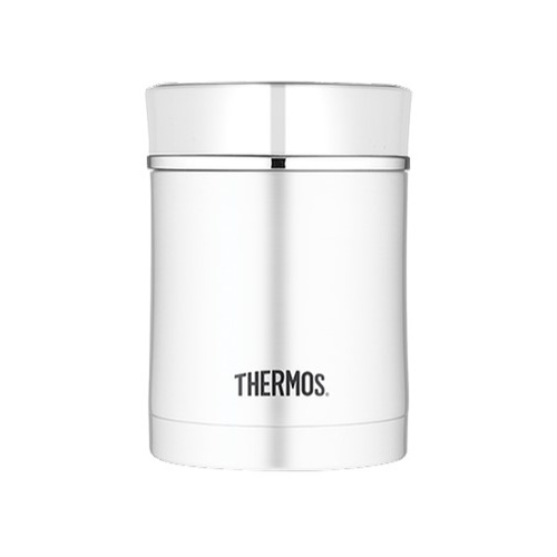 Thermos Sipp Stainless Steel Vacuum Insulated Food Jar 470ml Silver & White