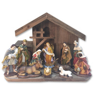 Nativity Holy Family in Stable Set - 11 Piece