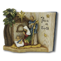Religious Gifting Christmas Nativity Holy Family Book Statue