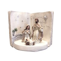 Religious Gifting Christmas Holy Family Led Nativity Scene