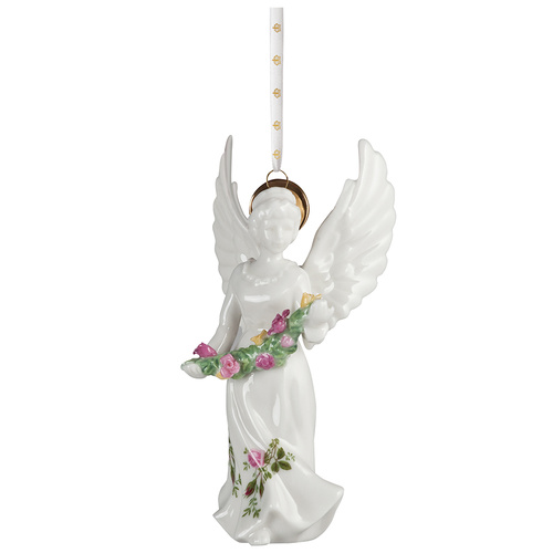 Royal Albert Old Country Roses Christmas Angel Ornament