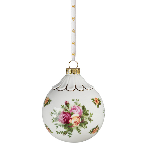 Royal Albert Old Country Roses Christmas Ball Ornament