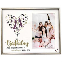 21st Birthday Glitter Photo Frame