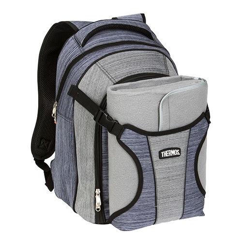 Thermos Picnic 4 Person Backpack Blue Grey