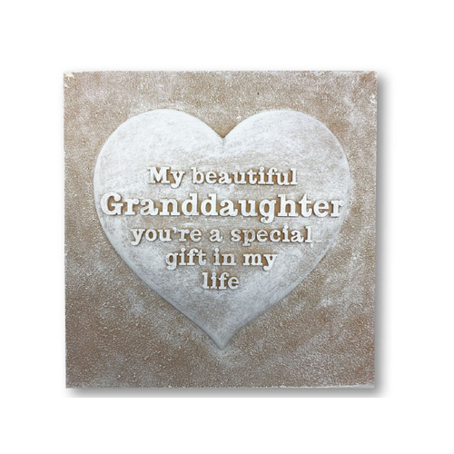 Home Decor Plaque - Granddaughter