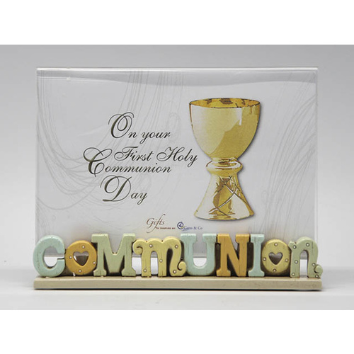 Colourful Words - Communion Photo Frame