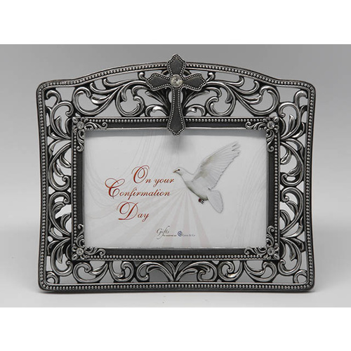 Filgree Confirmation Photo Frame - Metallic
