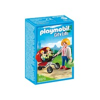 Playmobil City Life - Mother With Twin Stroller