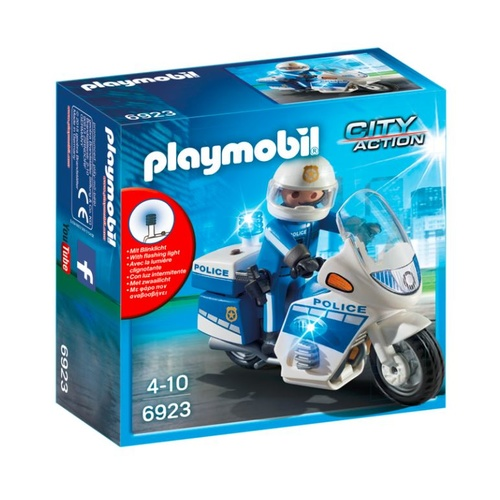 Playmobil City Action - Police Bike With LED Light