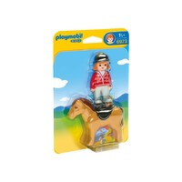 Playmobil 1.2.3 - Equestrian with Horse