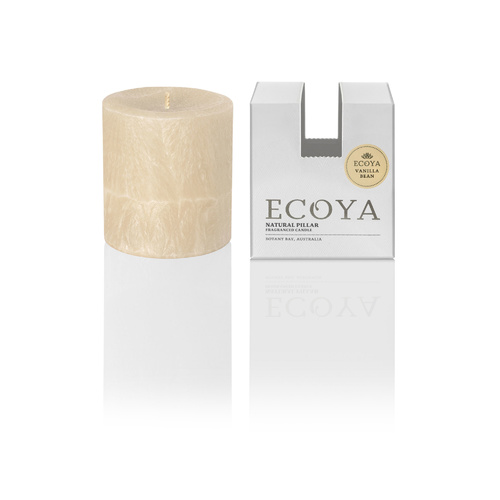 Ecoya Small Coloured Pillar Candle - Vanilla Bean