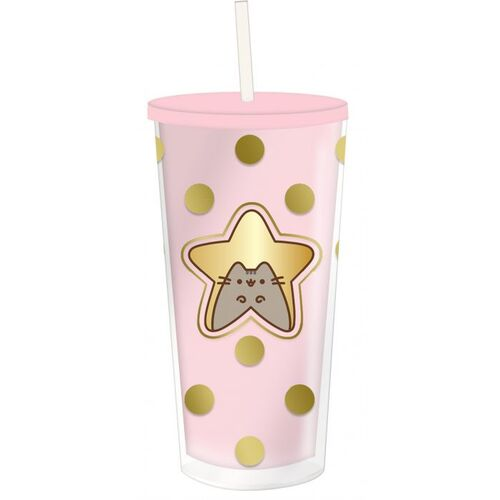 Pusheen Sweet & Simple Beaker With Straw