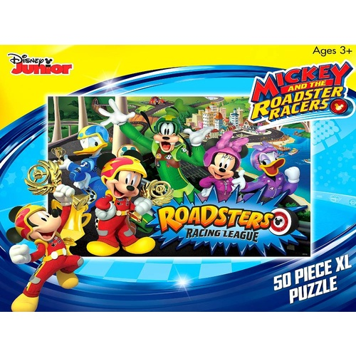 Disney Mickey And The Roadster Racers 50 XL Piece Puzzle - Roadsters Racing League