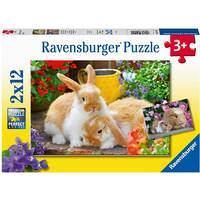 Ravensburger Puzzle 2x12pc - Guinea Pigs & Bunnies