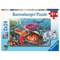 Ravensburger Puzzle 2 x 24pc - Mermaid Adventures