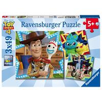 Ravensburger Puzzle 3x49pc - Disney/Pixar Toy Story 4 - In it Together