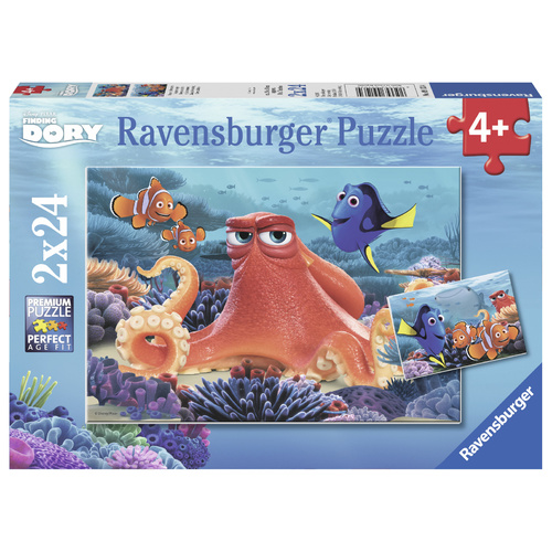 Ravensburger Puzzle 2x24pc - Disney Pixar Finding Dory - Always Swimming