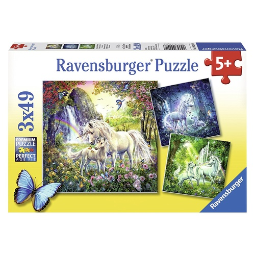 Ravensburger Puzzle 3x49pc - Beautiful Unicorns
