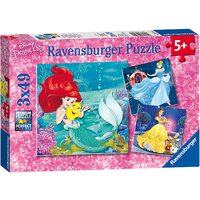 Ravensburger Puzzle 3 x 49pc - Disney Princesses Adventure