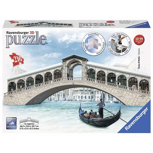 Ravensburger 3D Puzzle 216pc - Venice's Rialto Bridge