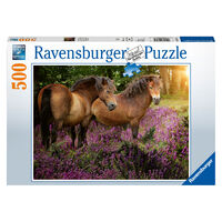 Ravensburger Puzzle 500pc - Ponies in the Flowers