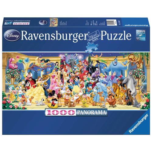 Ravensburger Puzzle 1000pc - Disney Characters Panorama