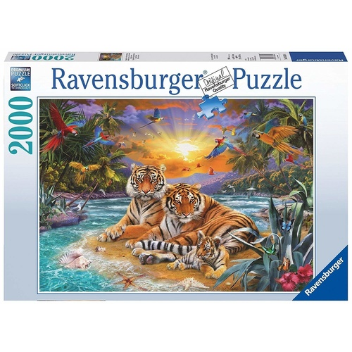 Ravensburger Puzzle 2000pc - Tigers At Sunset