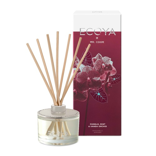 Ecoya Reed Diffuser - Limited Edition X MR COOK Pomelo Mint & Vanda Orchid