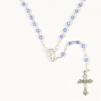 Rosary Beads Crystal Ab 4mm - Blue