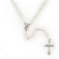 Rosary Beads Crystal Ab 4mm - Crystal