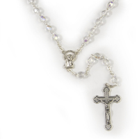 Rosary Beads Crystal Ab 7mm - Crystal