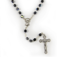 Rosary Beads Crystal Ab 7mm - Black