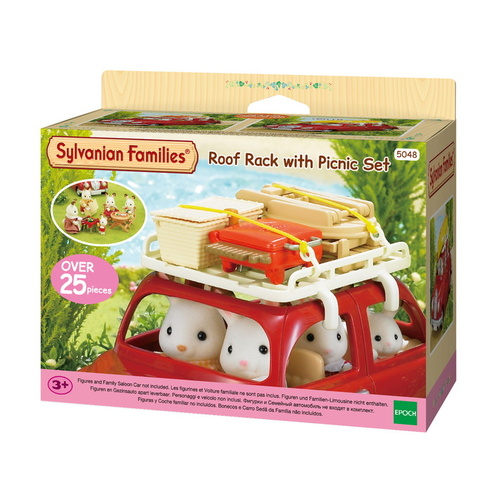 Sylvanian Families - Roof Rack With Picnic Set