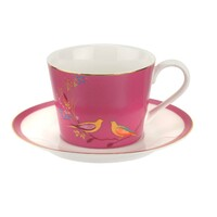 Portmeirion Sara Miller London - Chelsea Pink Teacup & Saucer