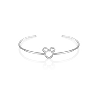 Disney Couture Kingdom Precious Metal - Mickey Mouse - Crystal Outline Bangle