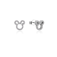 Disney Couture Kingdom Precious Metal - Mickey Mouse - Crystal Outline Stud Earrings