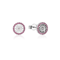 Disney Couture Kingdom - Frozen 2 - October Birthstone Snowflake Stud Earrings