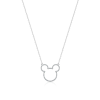 Disney Couture Kingdom Precious Metal - Mickey Mouse - Crystal Outline Necklace