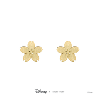 Disney x Short Story Earrings Mulan Sakura - Gold