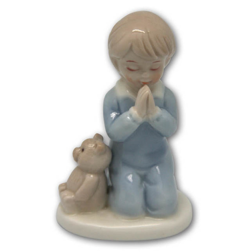 Praying Boy Porcelain Statue