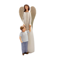 Guardian Angel With Boy Statue