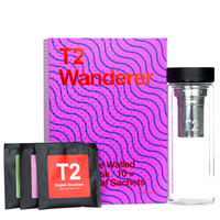 T2 Double Walled Glass Flask with Loose Tea - Wanderer