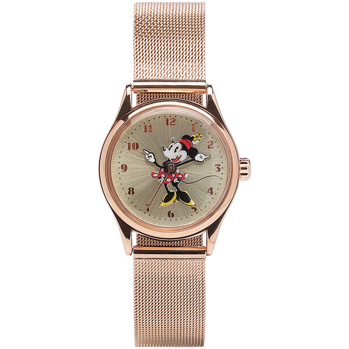 The Original Mickey Collection Watch - Rose Mesh 34mm Ft Minnie
