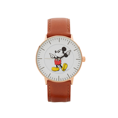 The Original Mickey Collection Watch - Rose + Tan 40mm