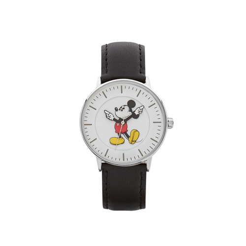 The Original Mickey Collection Watch - Silver + Black 36mm