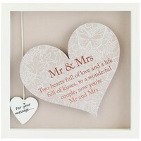 Sentiment Heart Frame By Arora - Mr & Mrs