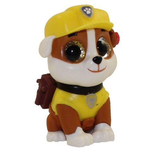 Beanie Boos - Mini Boos Collectible Paw Patrol OPENED Rubble