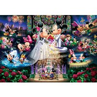 Tenyo Puzzle 1000pc - Disney Mickey and Minnie - Forever Promise Wedding Dream