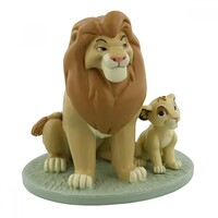 Disney Magical Moments The Lion King: Figurine Mufasa And Simba 'My Daddy is King'