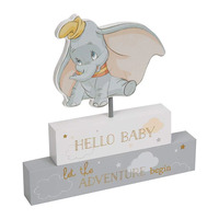 Disney Magical Beginnings Dumbo - Mantel Block 'Hello Baby'